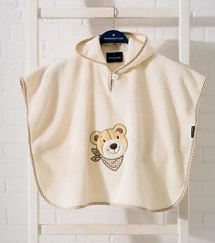 Morgenstern Bear poncho creme