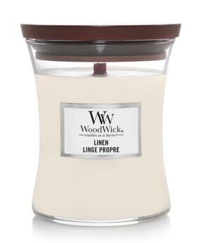 WoodWick Linen Linge Propre medium candle 302104