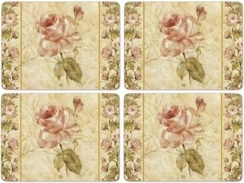 Placemats Antique rose linen2
