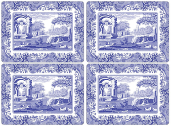Blue italian placemats