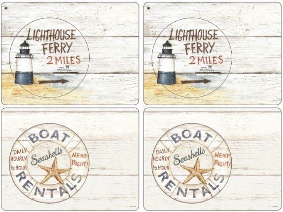 Coastal Signs placemats