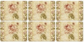 Placemats Antique rose linen medium