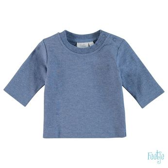 Shirt uni blue melange